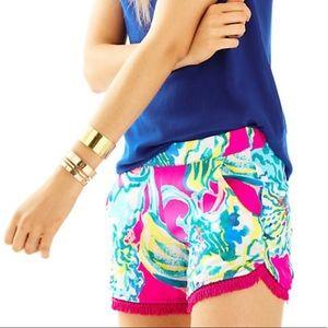 Lilly Pulitzer Cocoa Shorts Stretchy Shorts XS